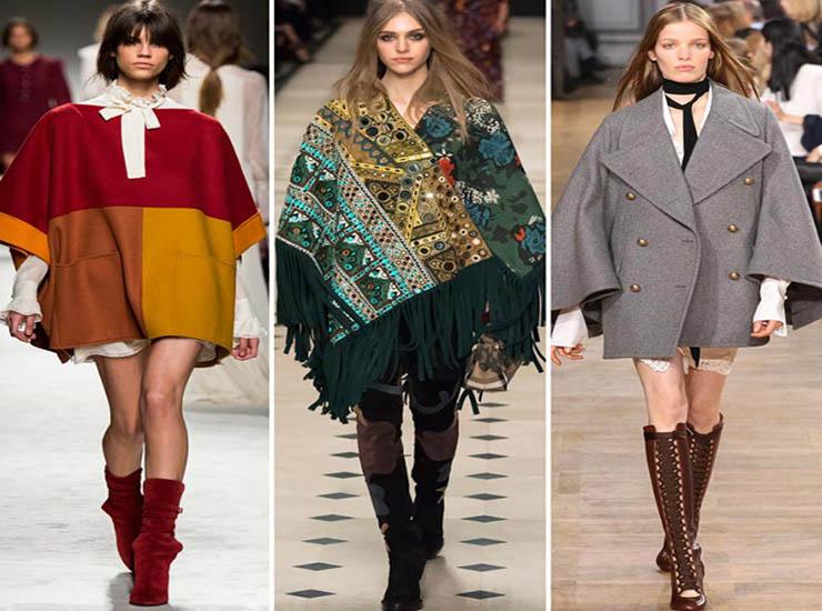 Winter women's batwing sleeve cape cloak trench jackets