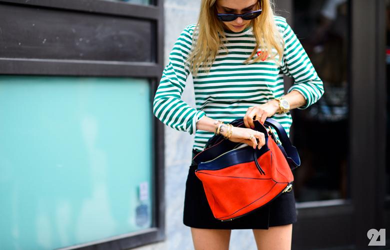 Summer seaside fashion trend striped dresses