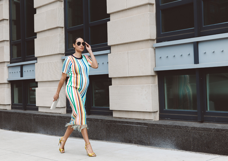 colorful summer stripes street style