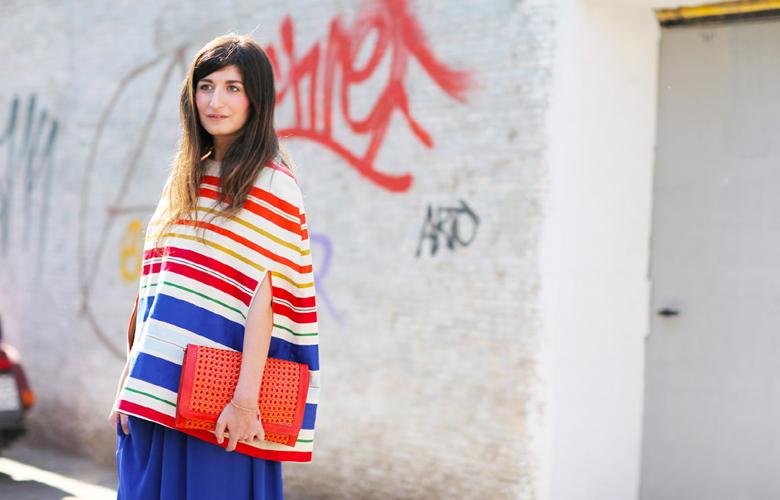 fashion week – Colorful striped dresses summer fashion