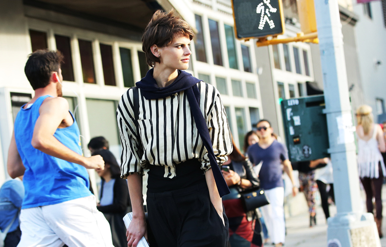 Work purpose striped shirts for women