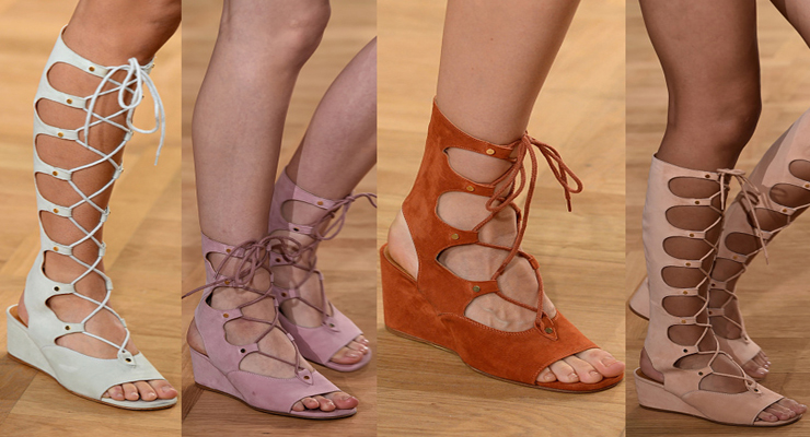 Chloe gladiator wedge sandal