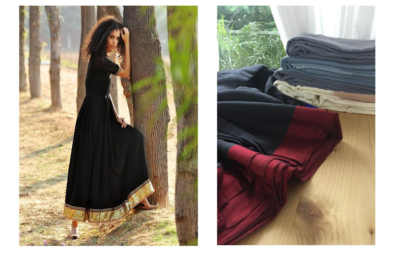 Mulmul in black – mulmul dresses and gown