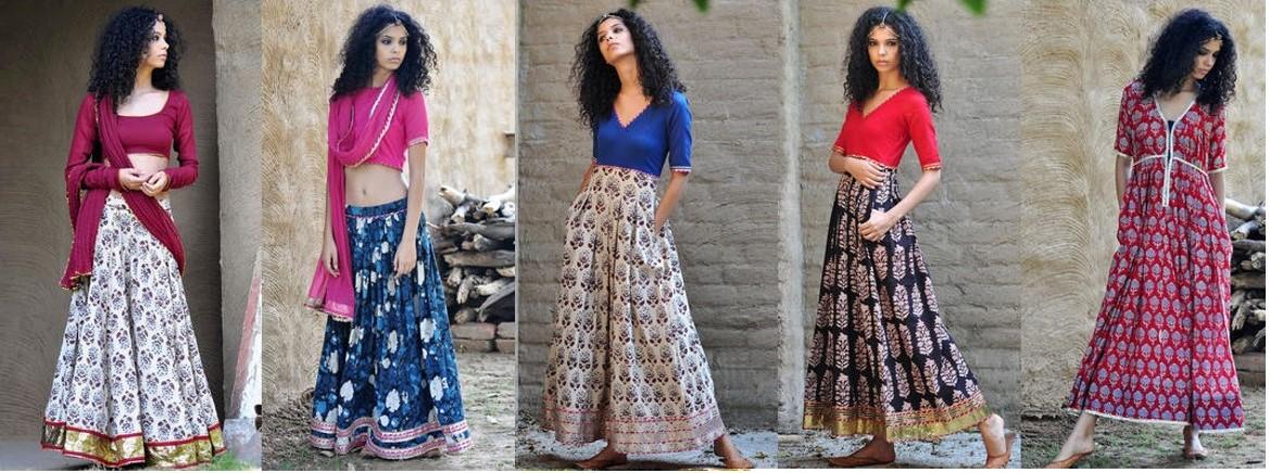 Mulmul lengha choli designs for summer festivals and weddings