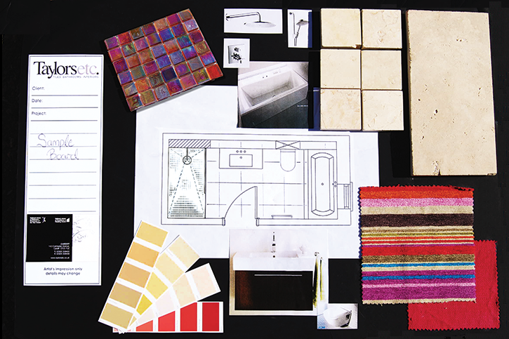 create a mood board – interior designing skills