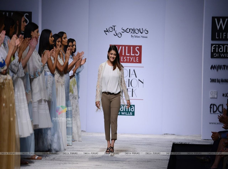 A model displays designer pallavi mohan's creations during the Lakme Fashion Week 2011 Day 5 in Grand Hyatt, Mumbai. .