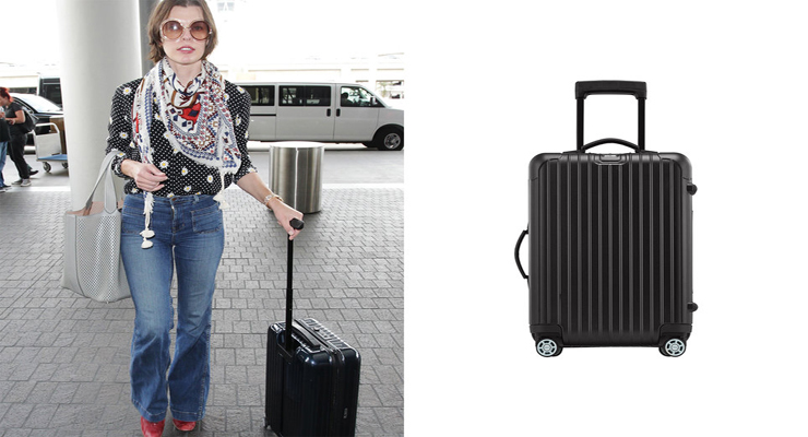 Celebrity carry-on travel luggage
