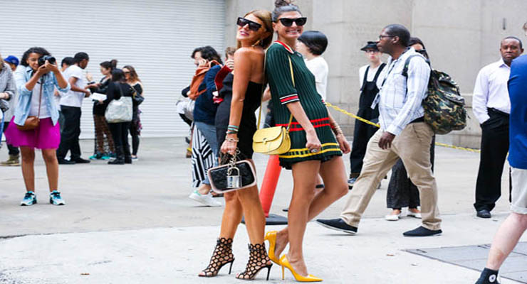 new york fashion week street style – A line dresses
