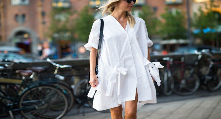 copenhagen fashion week – white shirt dress