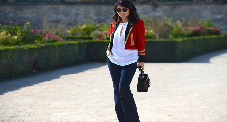 White top military jacket – plain white top