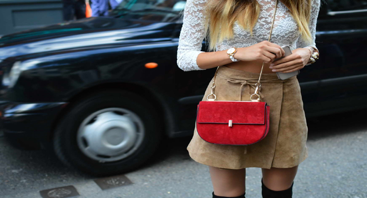 Chloe drew bag red