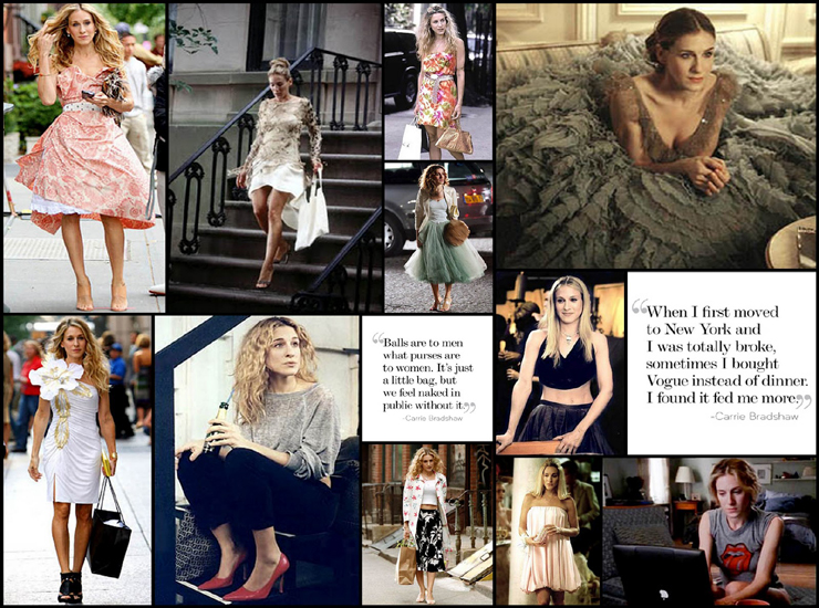Carrie Bradshaw sex and the city outfits fashion