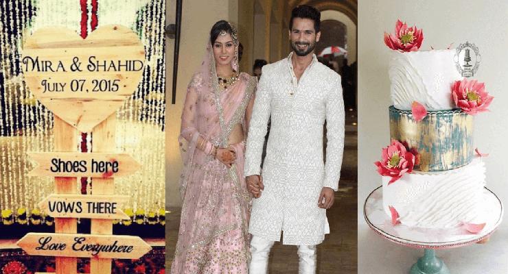 shahid kapoor and mira rajput wedding – invitation inspiration