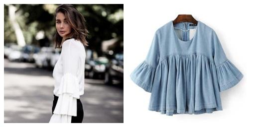top shirt with ruffle sleeves – ruffle sleeve shirt top