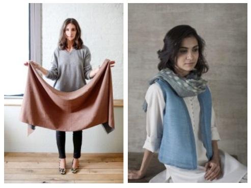 Wear a blanket scarf – blanket scarves