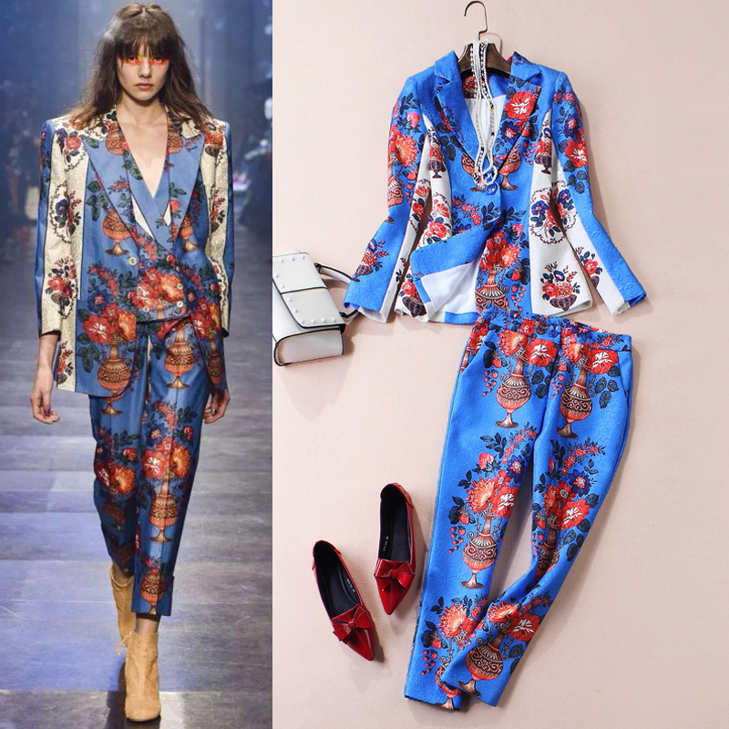 designer-2016-women-fashion-catwalk-high-end-ladies-cotton-floral-font-b-dobby-b-font-jacket