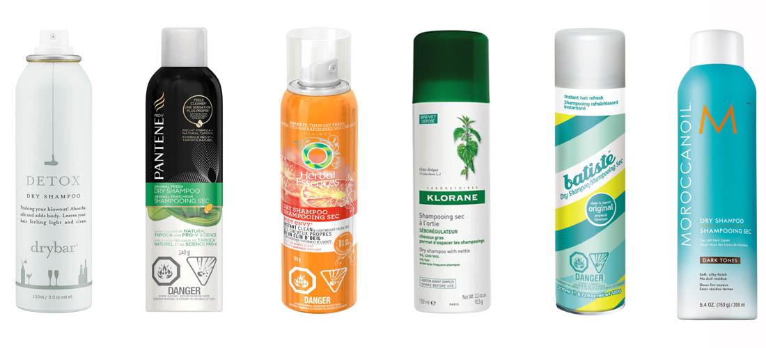 dry shampoo branded bottles
