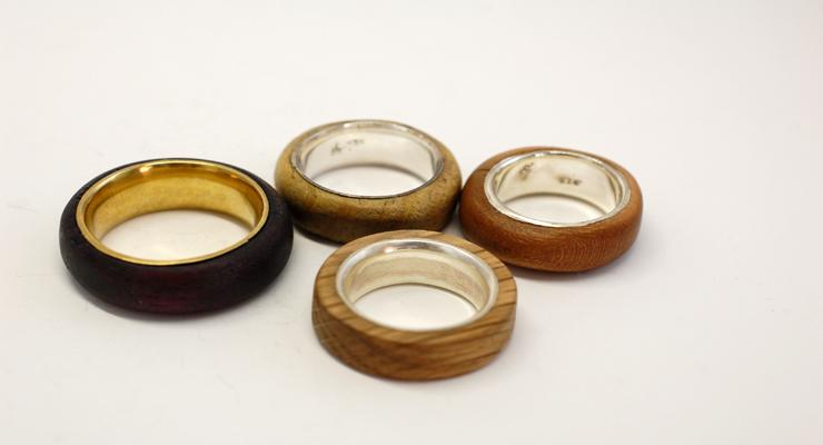 reclaimed wooden earrings