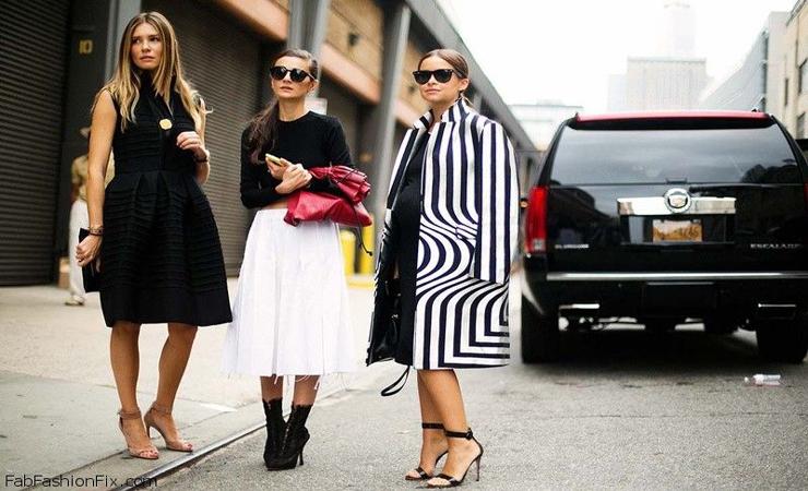fashion show fashion week street style – black clothing