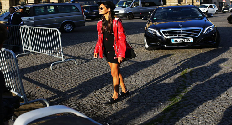 New York fashion week 2014 street style shoes trend