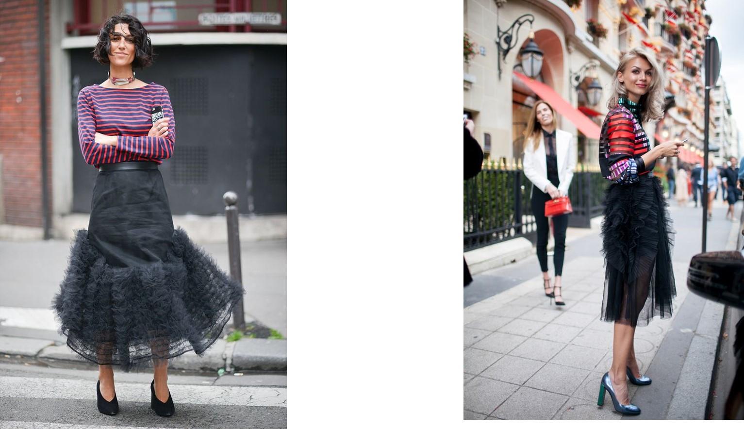 Paris fashion week & street style – Tulle fabric clothing for Paris fashion week 2017
