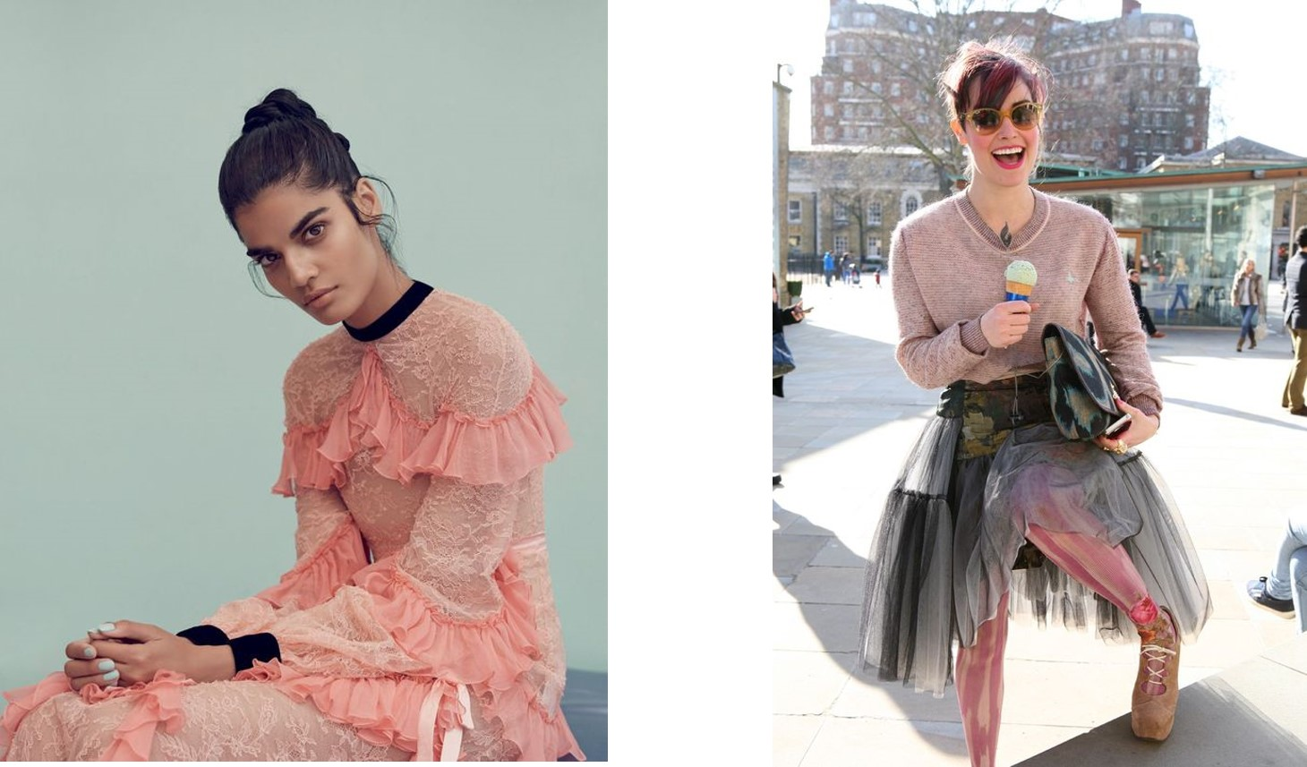 Street fashion in New York 2013 – Fabric tulle for New York street fashion