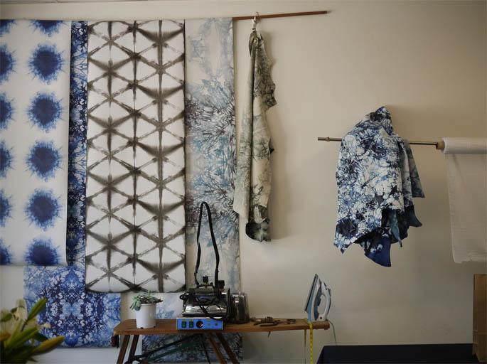 Indigo colours and design shibori
