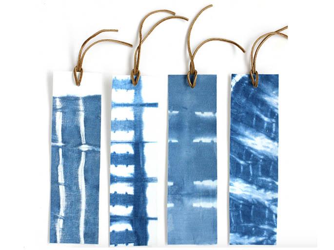 Decorating wallpapers shibori style