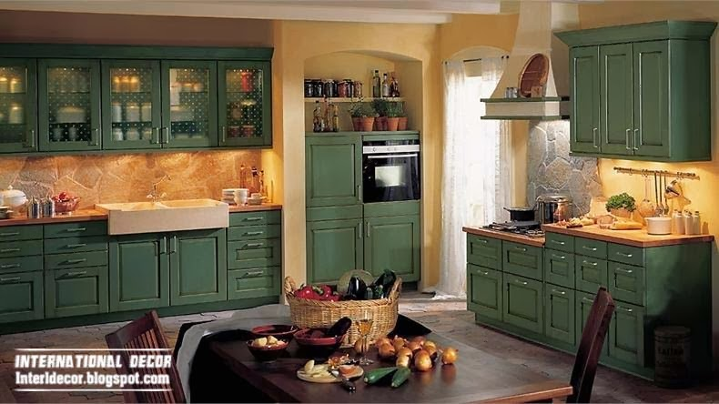 country-style-kitchens-green-kitchen-dining-sets