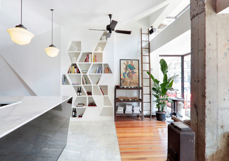 simple cafe interior design – contemporary home library