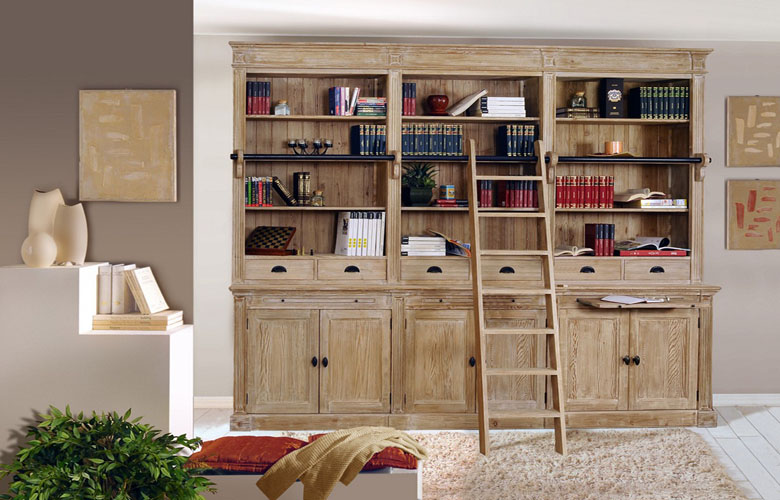 Classic Library cupboards – home library