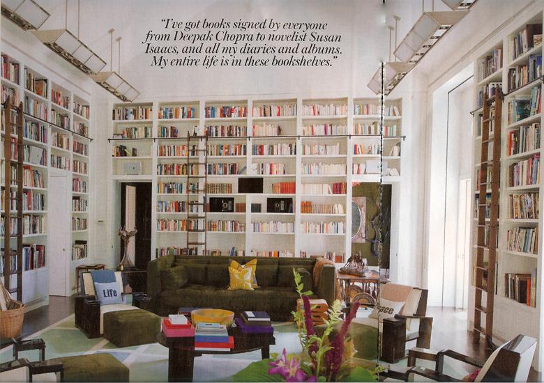 Diane von Furstenberg home library – home décor inspiration