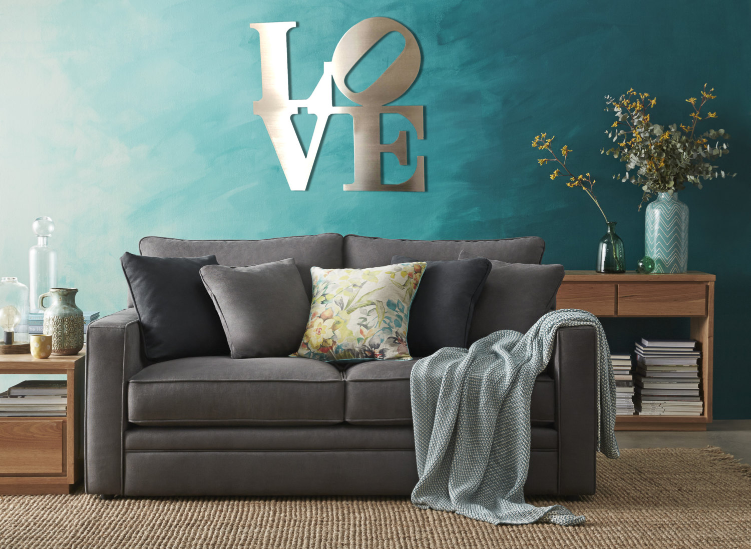 love metal wall art and coverings