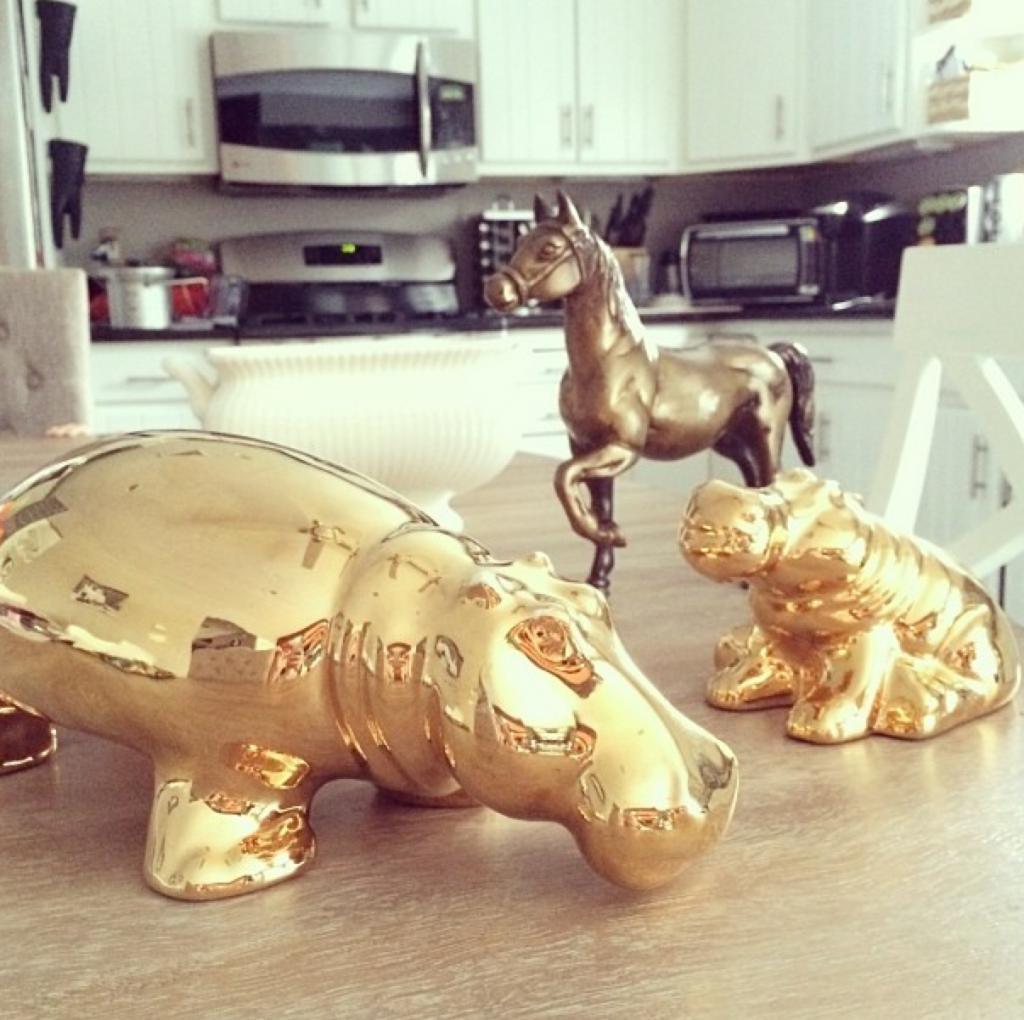 gold home decor DIY ideas – copper blush home décor