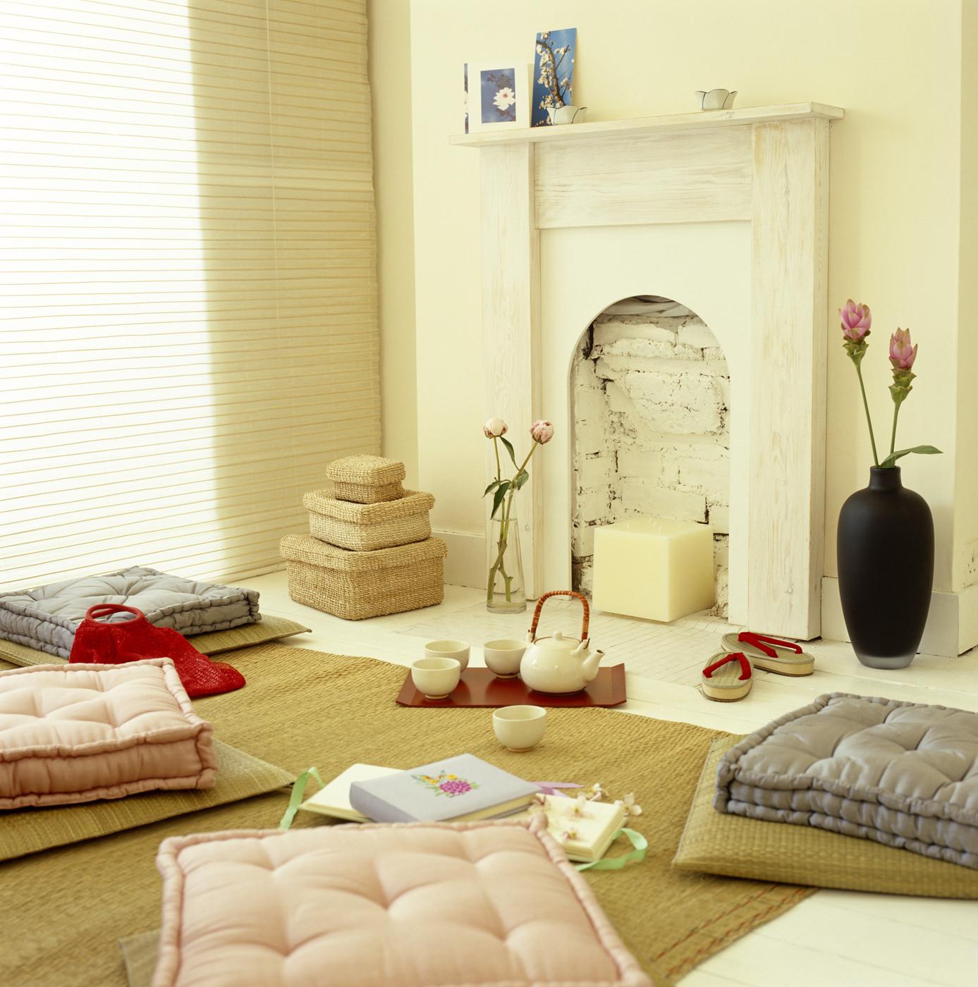 classic floor cushion seating décor ideas