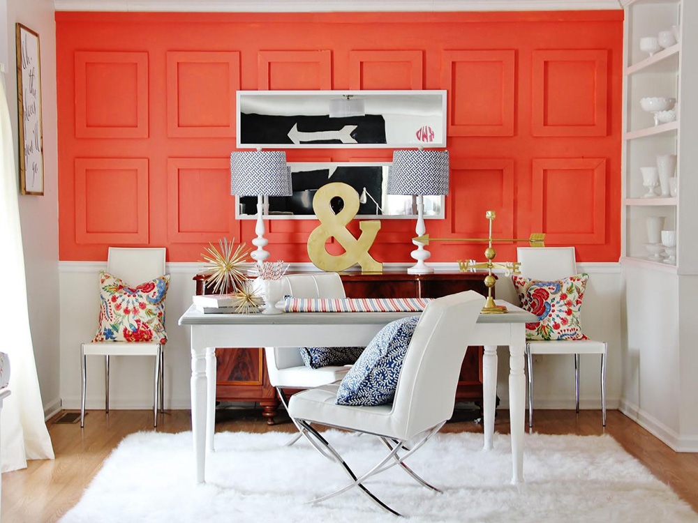 opulent home accents maximalist home decor colourfull workstation