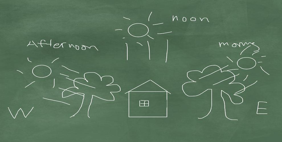 summer on a chalkboard
