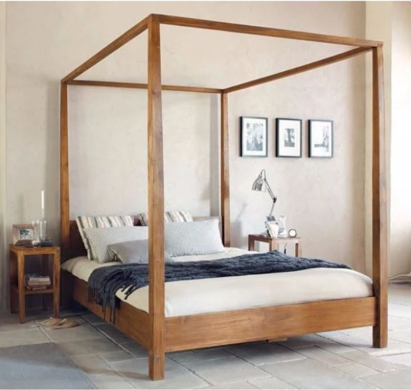 Teak Four Poster Bed TBD-2701