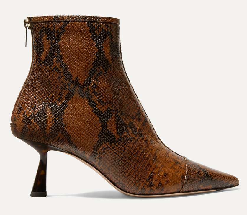 JIMMY CHOOKix 65 snake-effect leather ankle boots