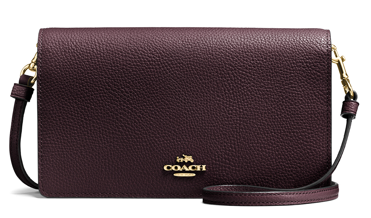COACH LIGHT OXBLOOD HAYDEN SMALL CROSS BODY BAG