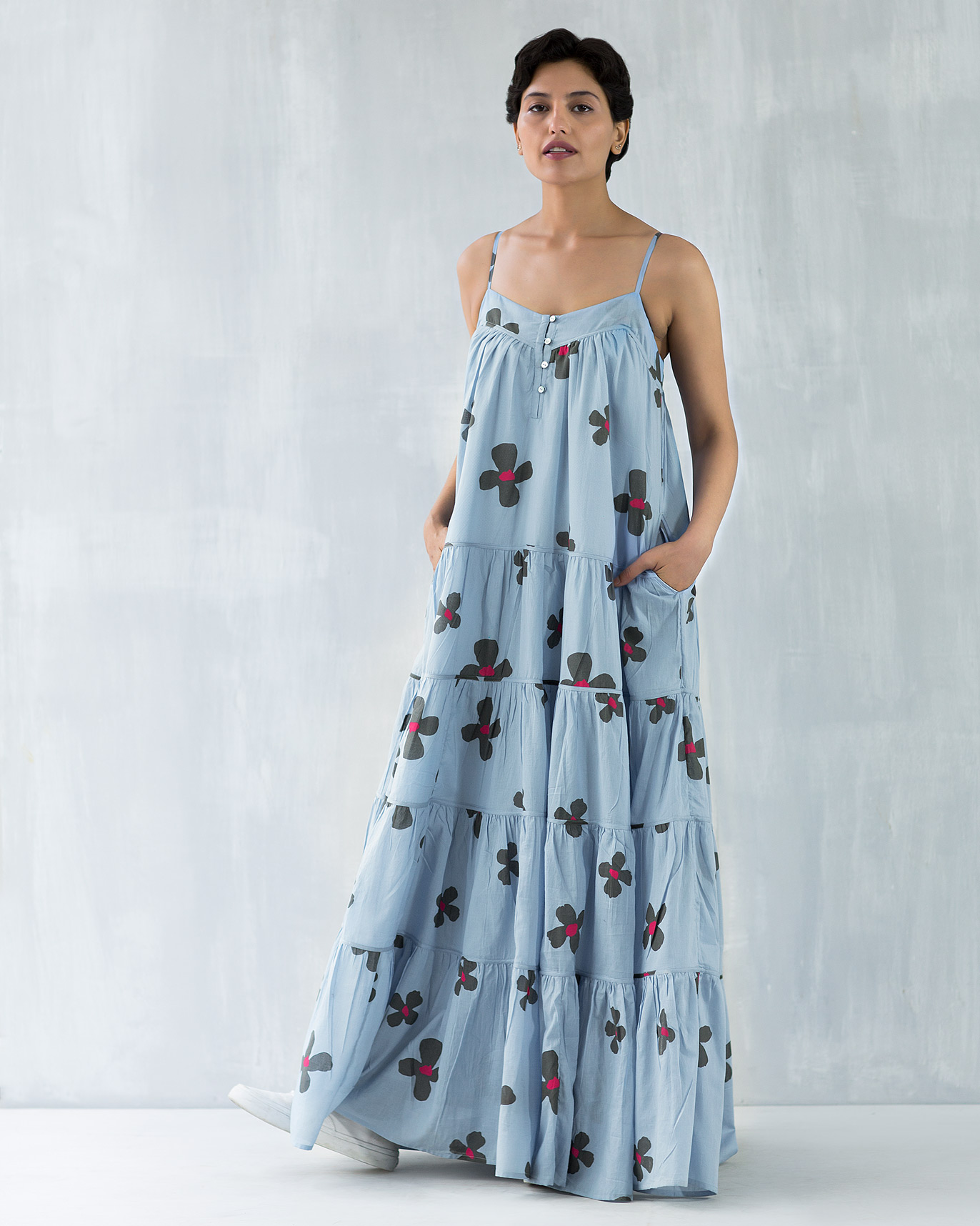 Strappy Foral Maxi Dress