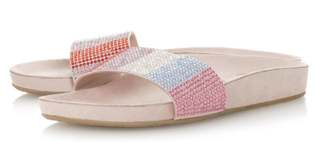 Blush Larsa Studded Slides