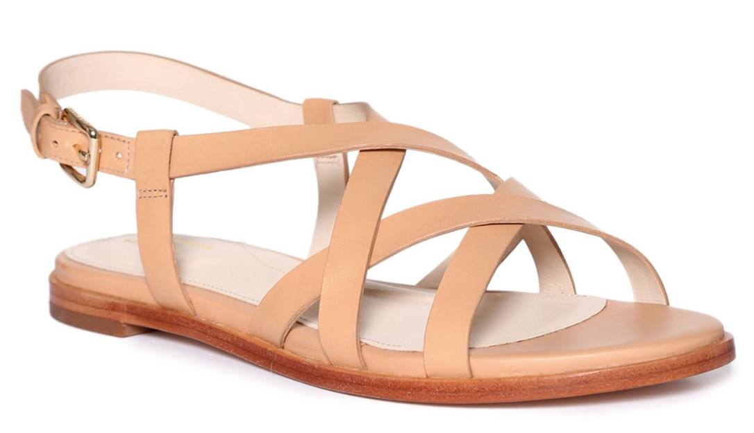 Beige Analeigh Grand Strappy Back Strap Sandals