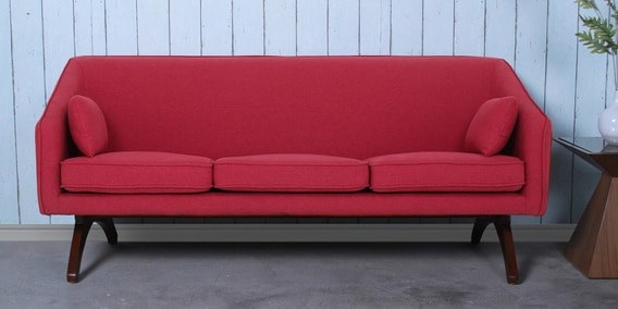 Sian 3 Seater Sofa in Red Colour by Furnitech